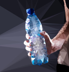 Wall Mural - Plastic water bottle vector geometric illustration