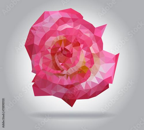 Wall mural Rose flower vector isolated geometric illustration