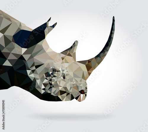 Wall mural Rhino head vector geometric modern illustration