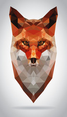 Wall Mural - Fox head vector isolated geometric modern illustration