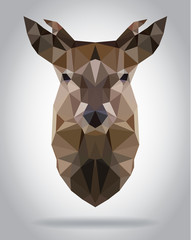 Wall Mural - Deer head vector isolated geometric modern illustration