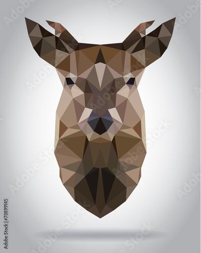 Wall mural Deer head vector isolated geometric modern illustration
