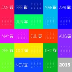 Colorful calendar 2015