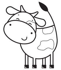 Funny outline cow
