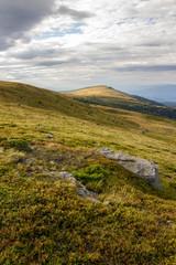 stones on the mountain hillside