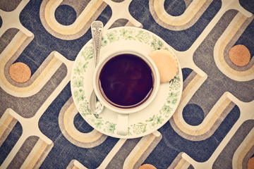 Retro styled image of a cup of coffee