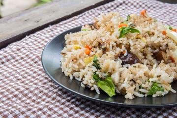 Vegetarian stir-fried rice