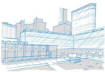архитектурный рисунок здания