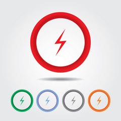 Lightning Bolt icon , electric sign