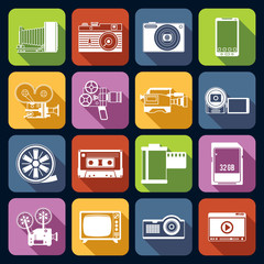 Photo Video Icons Set