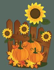 Herbst am Zaun
