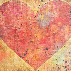 red heart on grunge background