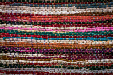 Fabric from Peru, Colorful Background.