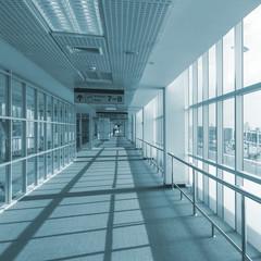 Fototapeta corridor of airport