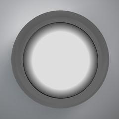 Black circle design on the grey background, vector illustration
