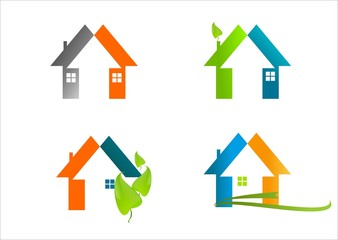 real estate House logo, abstract symbol home