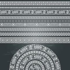 Ethnic geometric design set