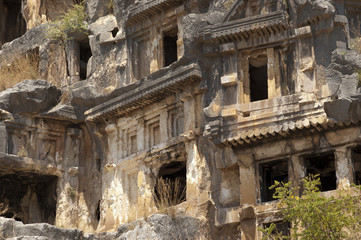 Rock-cut tombs in Myra, Demre, Turkey, Scene 6
