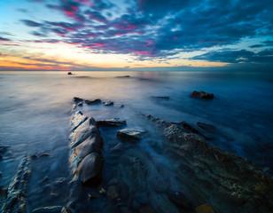 wschód słońca nad adriatykiem