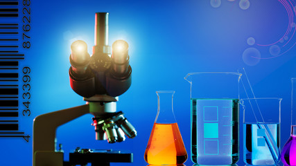 microscope and abstract science background
