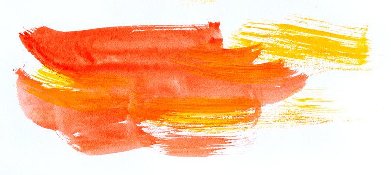 Watercolor paint strokes
