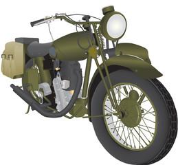 Vintage World War 2 Motorbike