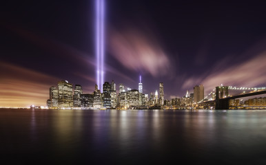 Wall Murals New York City 9-11 Tribute lights,Manhattan New York