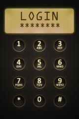 digital dial plate