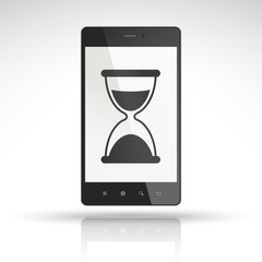 hourglass icon on mobile phone