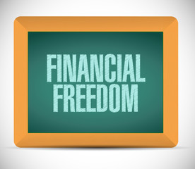 financial freedom message illustration design
