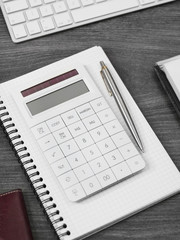 Calculator on a office desk