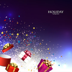 Christmas background with christmas gift boxes for xmas design.