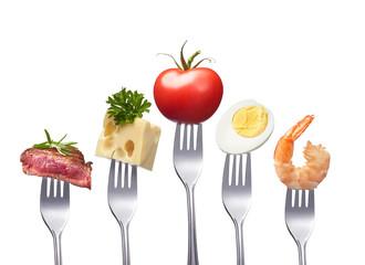 healthy and balanced food
