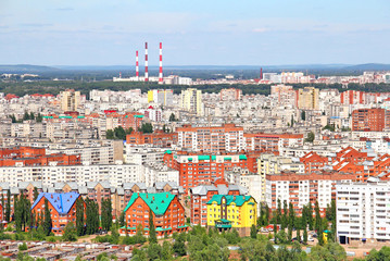 Aerial view of the Ufa city
