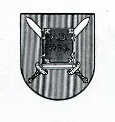 Coat of arms of Aluksne, Latvia ca. 1930