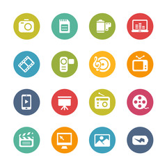 Multimedia Icons -- Fresh Colors Series
