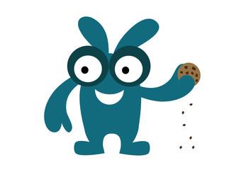 potwór z ciastkiem