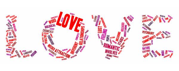 love text cloud