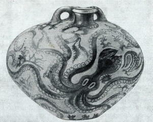 "Minoan art - ""Octopus Jar"" of Palaikastro, on Crete"