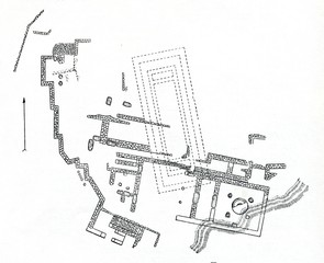 Plan of Agamemnon Palace (Mycenae, Greece)