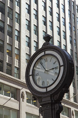 Street clock on the street in Manhattan.