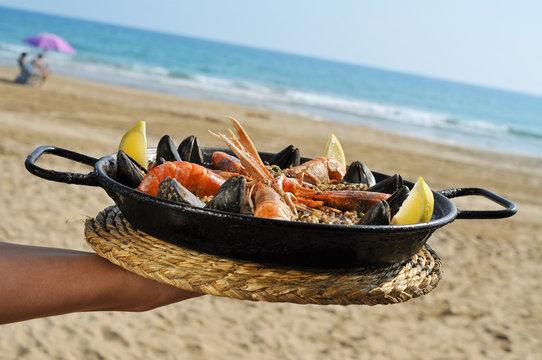 spanish paella on the beach