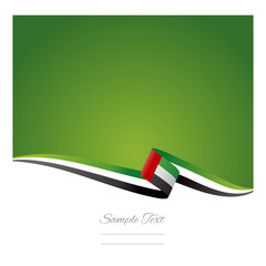 Abstract color background UAE flag vector