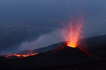 Volcano eruption Fototapete