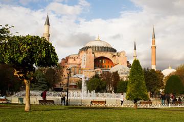 Hagia Sophia museum on Sept 23, 2014 in Istanbul, Turkey
