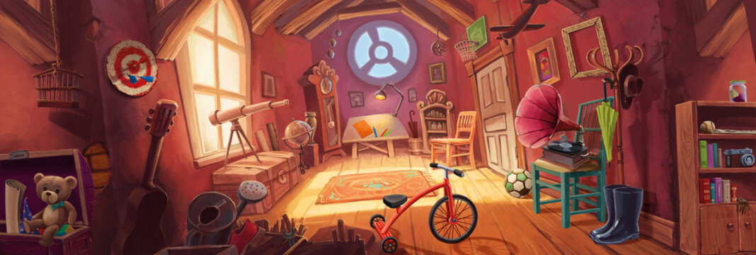 Attic with things
