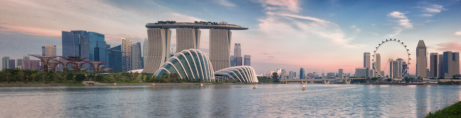 Aluminium Prints Asian Famous Place Landscape of the Singapore