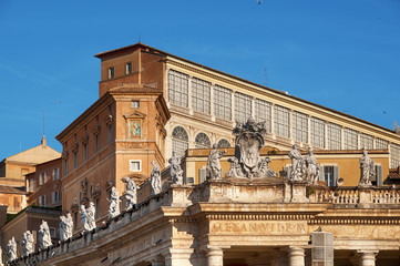 Apostolic Palace in Vatican City. (Rome - Italy)