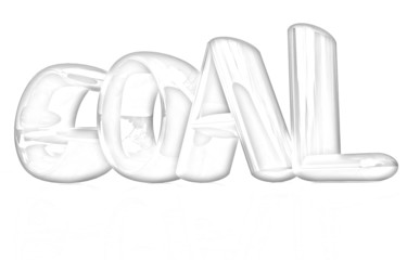 "The word ""Goal"". Pencil drawing"
