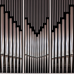 Pipe church organ in the background